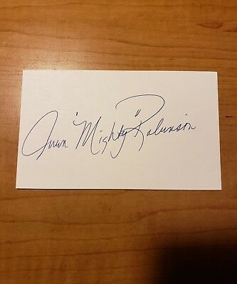 Ivan Robinson - Boxer - Autograph Signed - Index Card -Authentic - A1810