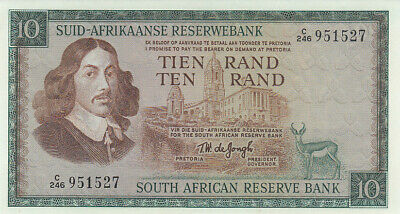 SOUTH AFRICA P.113b - 10 Rand ND 1967-76 UNC