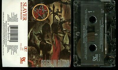Slayer Reign In Blood USA Cassette Tape