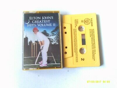 Elton John- Greatest Hits Vol 2 (yellow tape) Cassette EX