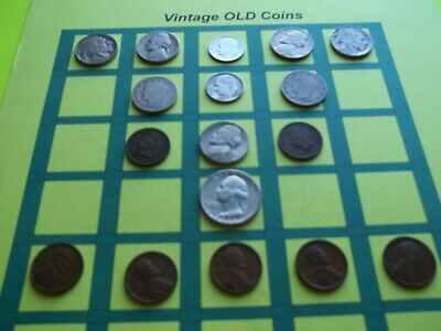 Estate Lot of Old Coins 50 to 125 Years Old with Some Silver  16 Coins  (OC10)