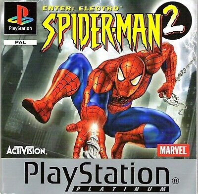 Sony Playstation PS1 Video Game SPIDERMAN 2 (PAL) UK SELLER