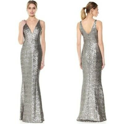7dd8813908541 DRESS THE POPULATION Harper Gold Matte Sequin Mermaid Gown Maxi ...