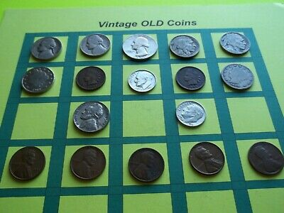 Estate Lot of Old Coins 50 to 125 Years Old with Some Silver  16 Coins  (OC3)