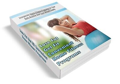 Home Fitness Programs Ebook PDF & 5 Health Related Ebooks MRR Free Shipping