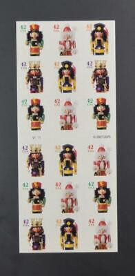 US SCOTT 4371b PANE OF 18 HOLIDAY NUTCRACKERS STAMPS 42 CENT FACE MNH
