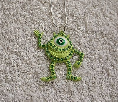 MONSTERS INC MOVIE Inspired MIKE WAZOWSKI Large Charm NECKLACE