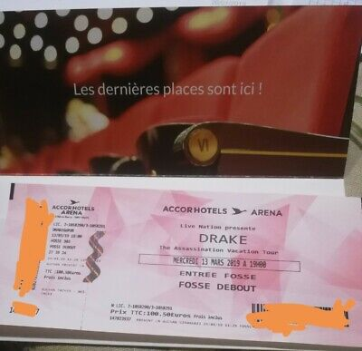 drake ticket concert 13th March Paris offer