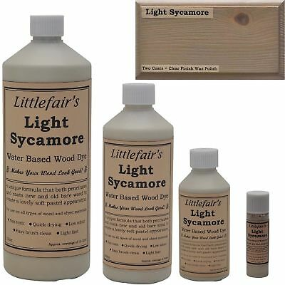 Littlefair's Non-Toxic Water-Based Wood Stain Dye - Light Sycamore