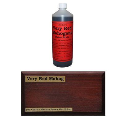 Littlefair's Water-Based Wood Stain Dye - Very Red Mahogany