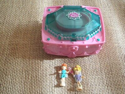 Vintage Polly Pocket Mattel 2000 Emerald Garden Playset with figures