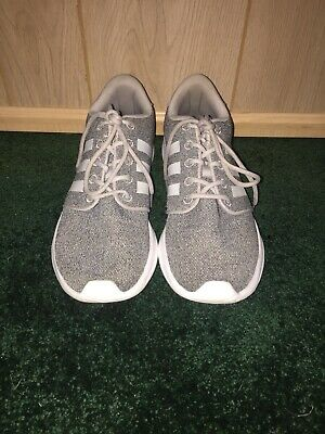 ADIDAS WOMEN'S CLOUDFOAM QT Racer Running Athletic Shoes Gray White Size 7.5