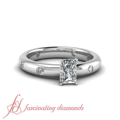 caa9ddbfb 1.35 Ct Radiant Cut:Very Good Diamond 14K Gold Engagement Ring VVS2-F Color
