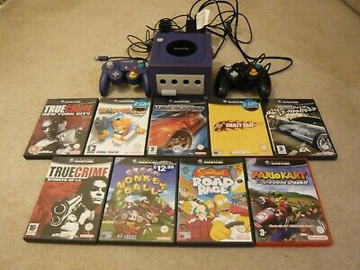 Purple Nintendo Gamecube Console With 9 Games Bundle , Pal , Mario Kart ....