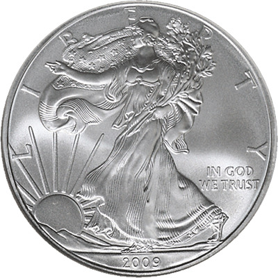 2009-P Silver American Eagle $1 NGC MS69 Brown Label Scales Right - STOCK
