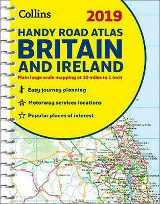 2019 Collins Handy Road Atlas Britain by Collins Maps Spiral Book Free Shipping!