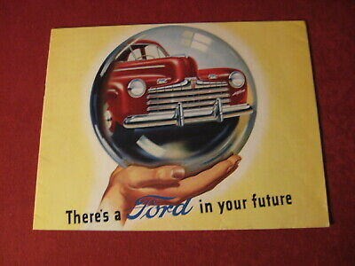 1946 Ford Showroom Sales Brochure Booklet Old Vintage  book Catalog Original