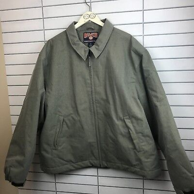52ca6d60f15 Men s NWOT Duluth Trading Work Jacket Nylon Coat Green Quilt Lined Size XXL