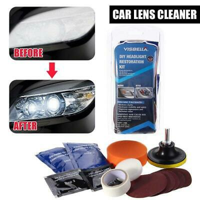 Car Headlight Lens Restoration Repair Kit Professional Polishing Cleaner Tool AU