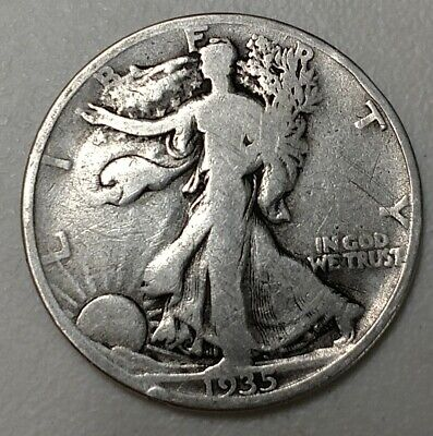 A Silver Walking Liberty Half Dollar from 1935!  D-Mint