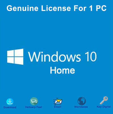 Windows 10 Home 32-64 bit License Key Activation Genuine