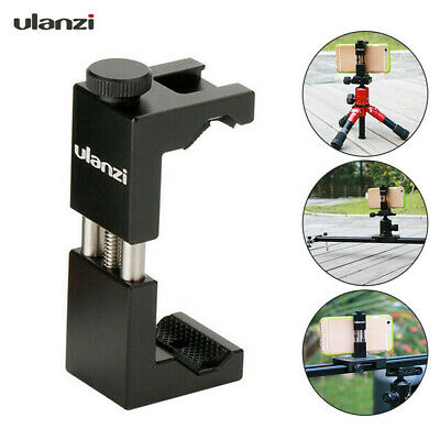 Ulanzi Tripod Self Stick Clip Clamp Holder Bracket Mount Adapter for Cell Phone