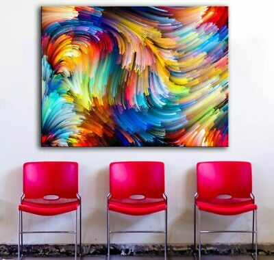 Abstract Colored Lines Modern Decor Canvas Wall Art HD Print