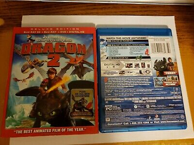 How to Train Your Dragon 2 (Blu-ray Deluxe Edition, 2014) W/Slipcase Free Ship