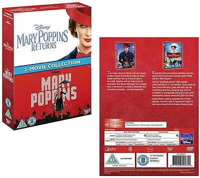 MARY POPPINS (1964) + MARY POPPINS RETURNS (2019) DOUBLE - Sequel NEW Eu Rg2 DVD