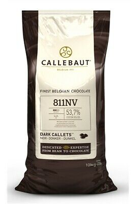 Callebaut 811 10kg - Dark Chocolate Callets 53.7%