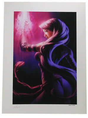 Sideshow Collectibles Psylocke Premium Art Print X-Men Marvel Sample Rare