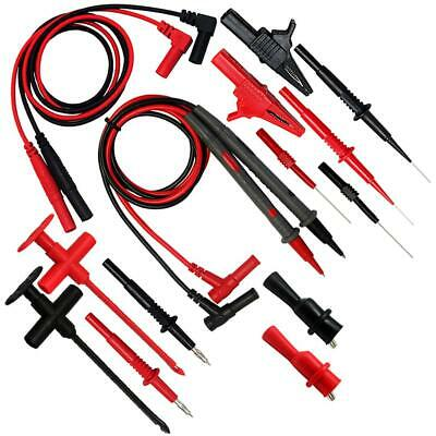AideTek Automotive 8-in-1 Silicone test leads kit Tipped Tip up to CAT III 32A