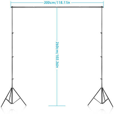 Background Support Stand System 2.6M x 3M Kit for Muslins Backdrop