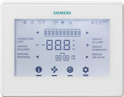SIEMENS - RDT2000BN Commercial Configurable LCD Touch Panel Thermostat BACnet