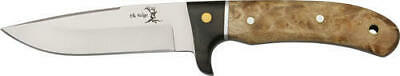 Elk Ridge 065 Burlwood/Black Hunter Full Tang Hunting Skinning Fixed Blade Knife