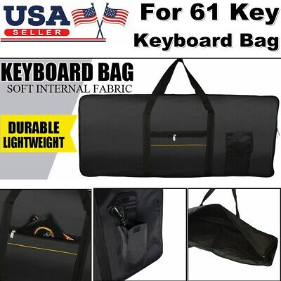 Heavy Duty Portable Electronic 61Key Keyboard Piano Padded Case Gig Bag Fabric