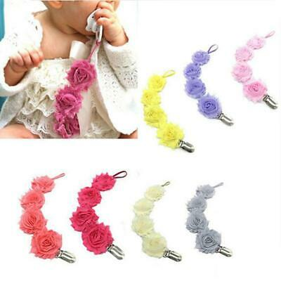 Dummy Clip Baby Soother Clips Chain Holder Pacifier Strap Multicolor LA