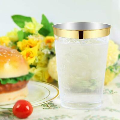 Clear Plastic Disposable Glasses Dessert Champagne Wine Drink Cups Wedding Party