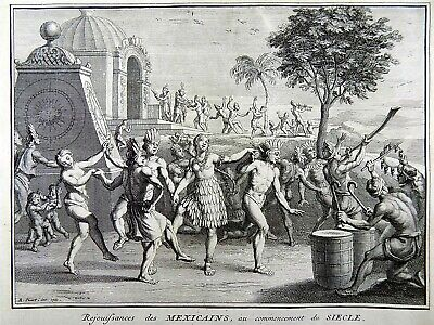 Bernard Picart (1673-1733) Native Mexicans Rejoicing for New Century 1727