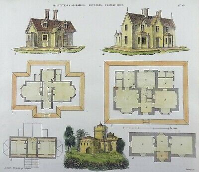 1825 BOITARD, Pierre - Architecture - English Cottages - engraving