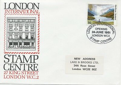 GB 1981 The National Trusts 14P FDC LONDON INTERNATIONAL STAMP CENTRE - OPENING