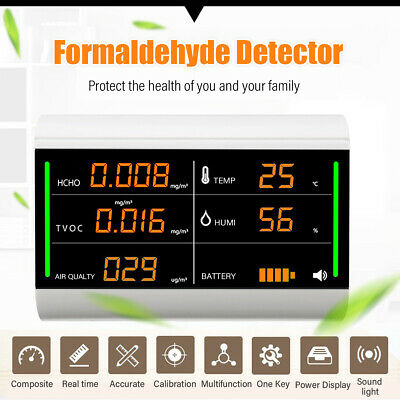 5 IN1 Digital Air Quality Detector Monitor TVOC HCHO Formaldehyde USB PM2.5 Home