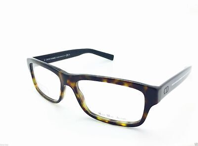 68db2d74c967 CHRISTIAN DIOR HOMME 0141 Eyeglasses Black Havana MK7 Authentic 54mm ...