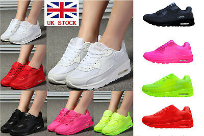 Women Sport Gym Trainers Air Cushion Lace Up Sneaker Lady Casual Shoes Sz 3-7.5