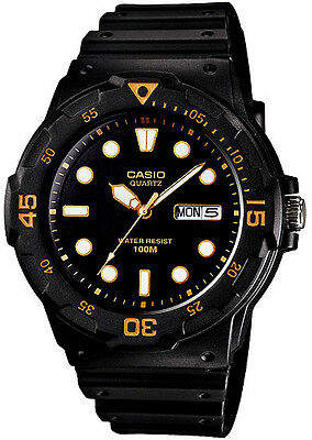 Casio MRW-200H-1EV Men's Analog Watch Resin Day and Date Neo Display 100m WR New