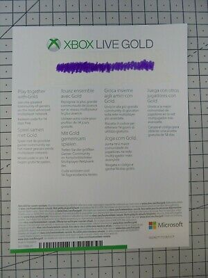XBOX Live 14 Day Gold Trial Code - 2 Weeks / 14 Days - Microsoft Xbox ONE Live