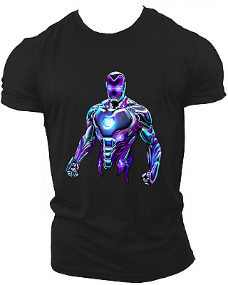 Ironman Avengers Infinity War End Game Marvel Endgame Unisex T-Shirt Neon07