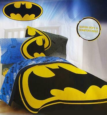 Batman Bat Signal Black Yellow Twin Comforter Sheets Pc 5pc