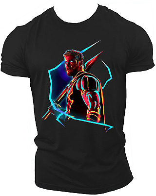 Thor Avengers Infinity War End Game Marvel Endgame Unisex T-Shirt Neon09
