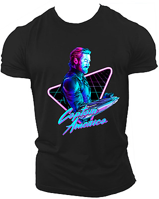 Captain America Avengers Infinity War End Game Marvel Endgame T-Shirt Neon11